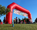 36 foot red inflatable arch