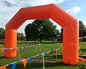 20 foot orange inflatable arch